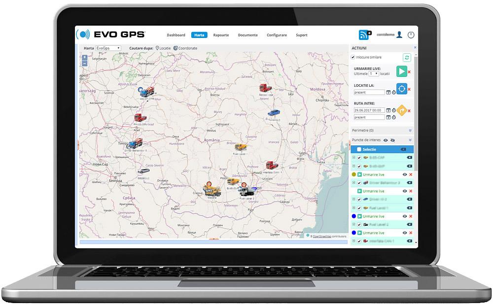 Urmarire Live - Localizare, Monitorizare prin GPS in timp real | evogps.ro