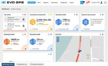 Dashboard - Localizare & Monitorizare Auto | evogps.ro